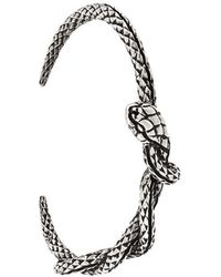 Eleventy - Embossed Snake Cuff - Lyst