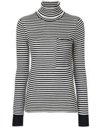 JOSEPH - Striped Turtleneck Sweater - Lyst