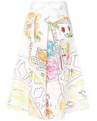Marni Printed Panel Skirt