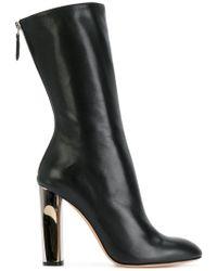 Alexander McQueen - Sculpted Heel Fitted Boots - Lyst