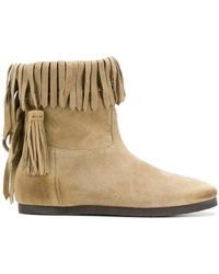 Twin Set - Fringed Ankle Boots - Lyst