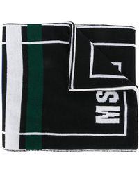 MSGM - Logo Knit Scarf - Lyst