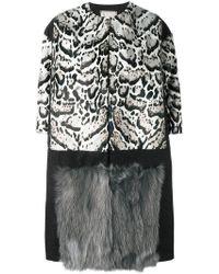 Antonio Marras - Animal Print Fur Coat - Lyst