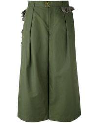 Kolor   Cropped Wide Leg Trousers   Lyst