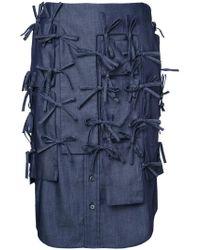 Facetasm - Strings Denim Skirt - Lyst