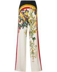 Etro - Floral Print Wide-leg Trousers - Lyst