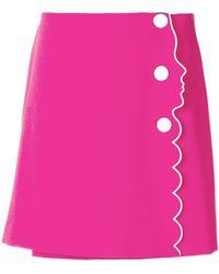 c4b3191f86 Lyst - Vivetta Pink Parini Wool Check Mini Skirt in Pink