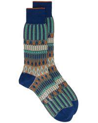 Ayamé - Multicoloured Basket Lunch Patterned Socks - Lyst