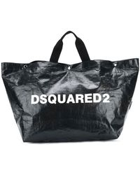 DSquared² - Logo Printed Tote Bag Large - Lyst