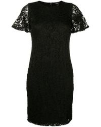 DKNY - Fitted Lace Dress - Lyst