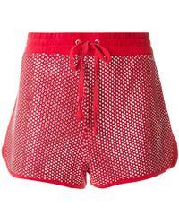 Juicy Couture - Swarovski Embellished Velour Shorts - Lyst