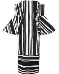 SemSem - Striped Bell Sleeve Dress - Lyst