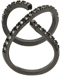 FEDERICA TOSI - Crystal Embellished Curved Ring - Lyst