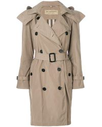 Burberry - Detachable Hood Tafetta Trench Coat - Lyst