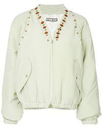 Hyein Seo - Jewel Embellished Bomber Jacket - Lyst