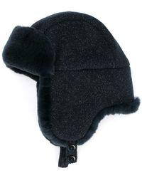 a44e43c05be Cashmere Cable-knit Beanie W  Fur Pompom.  400  200 (50% off). Neiman  Marcus · Inverni - Matilde Trapper Hat - Lyst