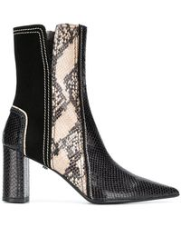 Dorothee Schumacher - Snake-effect Ankle Boots - Lyst
