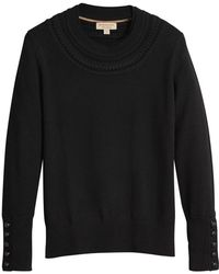 Burberry - Cashmere Cable Knit Yoke Sweater - Lyst