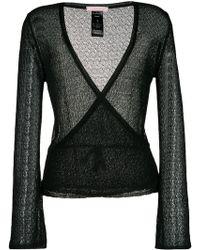 Kristina Ti - Open Knit Wrap Cardigan - Lyst