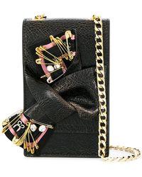 N°21 - Embellished Micro Bow Bag - Lyst 4b3e07b02ceb0