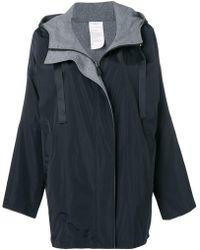 Donna Karan - Reversible Logo Hooded Coat - Lyst