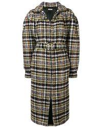 e2bf6f0f0b7fb Miu Miu Tweed Cocoon Coat in Natural - Lyst
