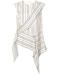 Nicole Miller - Departure Stripe Cap Sleeve Top - Lyst