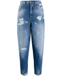 Just Cavalli - Cropped-Jeans im Distressed-Look - Lyst