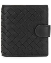 Bottega Veneta - Buttoned Intrecciato Wallet - Lyst