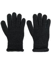 Armani Jeans - Embellished Logo Gloves - Lyst
