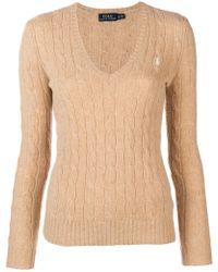 Polo Ralph Lauren - Logo Cable-knit Jumper - Lyst