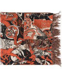 Edward Crutchley - Printed Scarf - Lyst