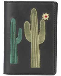 Lizzie Fortunato - Embroidered Cactus Note Wallet - Lyst