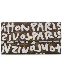 405815171 Louis Vuitton - Porte Monnaie graffiti monogram wallet - Lyst