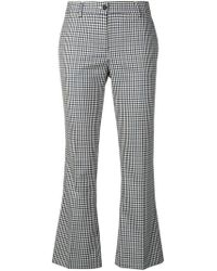 Alberto Biani - Checked Cropped Trousers - Lyst