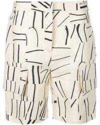 Victoria, Victoria Beckham - Printed Cargo Shorts - Lyst