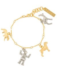 Marni - Gold And Silver Plated Charm Bracelet - Lyst