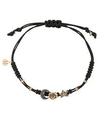 Pippo Perez - 18kt Black Gold, Diamond And Sapphire 3 Charm Bracelet - Lyst