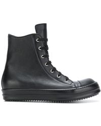 Rick Owens - Lace Up Military Boots - Lyst