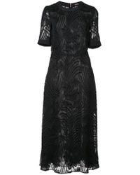 Adam Lippes - Textured Sheer Dress - Lyst