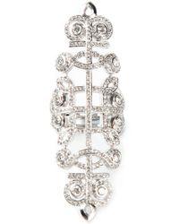 Nikos Koulis - Pavé Diamond Embellished Ring - Lyst