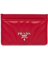 Prada - Logo Plaque Card Holder - Lyst