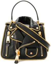 ebbb53140a3a Lyst - Givenchy Antigona Small Biker-stitched Satchel Bag in Black