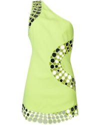 David Koma - Circles Detail One Shoulder Dress - Lyst