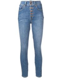 Alice + Olivia - Button Front Skinny Jeans - Lyst