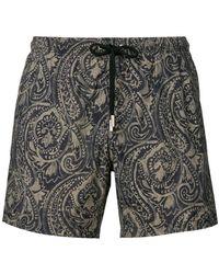 Paolo Pecora - Printed Swim Shorts - Lyst