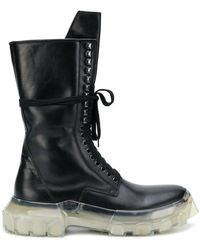 Rick Owens - Lace-up Tractor Boots - Lyst