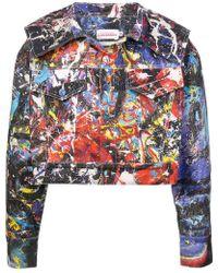 CHARLES JEFFREY LOVERBOY - Caped Painted Denim Jacket - Lyst