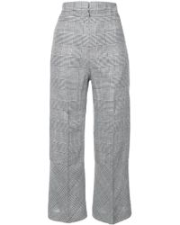 Antonio Berardi | High Waisted Cropped Plaid Trousers | Lyst