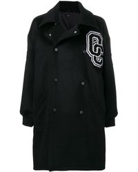 Opening Ceremony Double Breasted Logo Coat